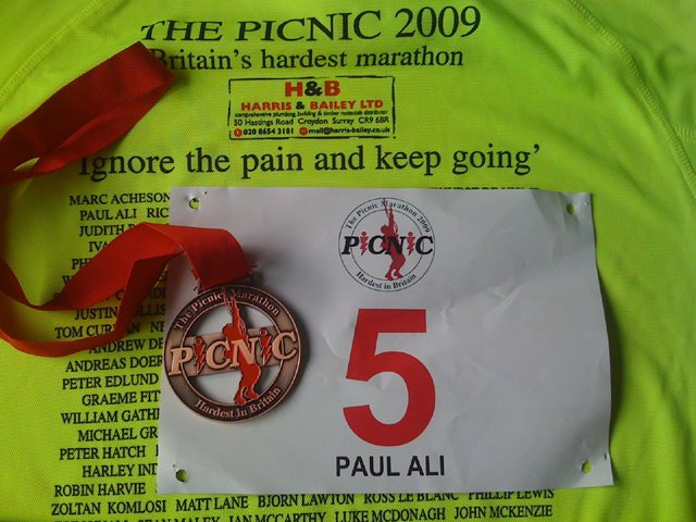 "2009 Picnic Marathon ""The Hardest Marathon in Britain"""