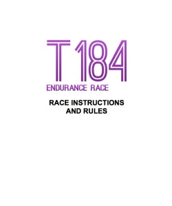 T184 Endurance Run Rules