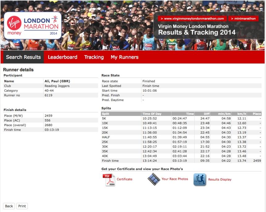 2014 London Marathon Stats 01