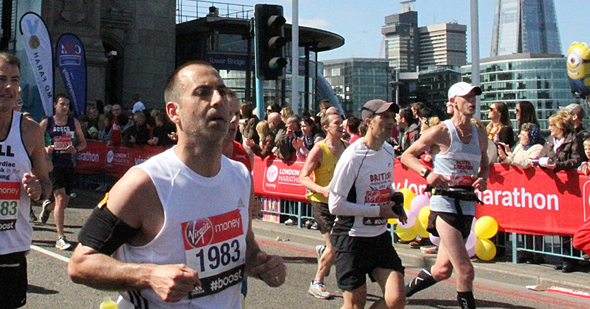 2014 London Marathon Paul Ali