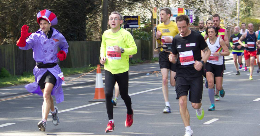 2015 Reading Half Marathon Paul Ali Dick Dastardly 00
