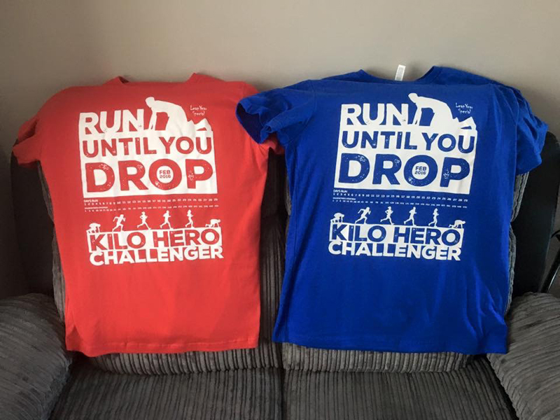 2016 Run Until You Drop Challenget T-Shirts