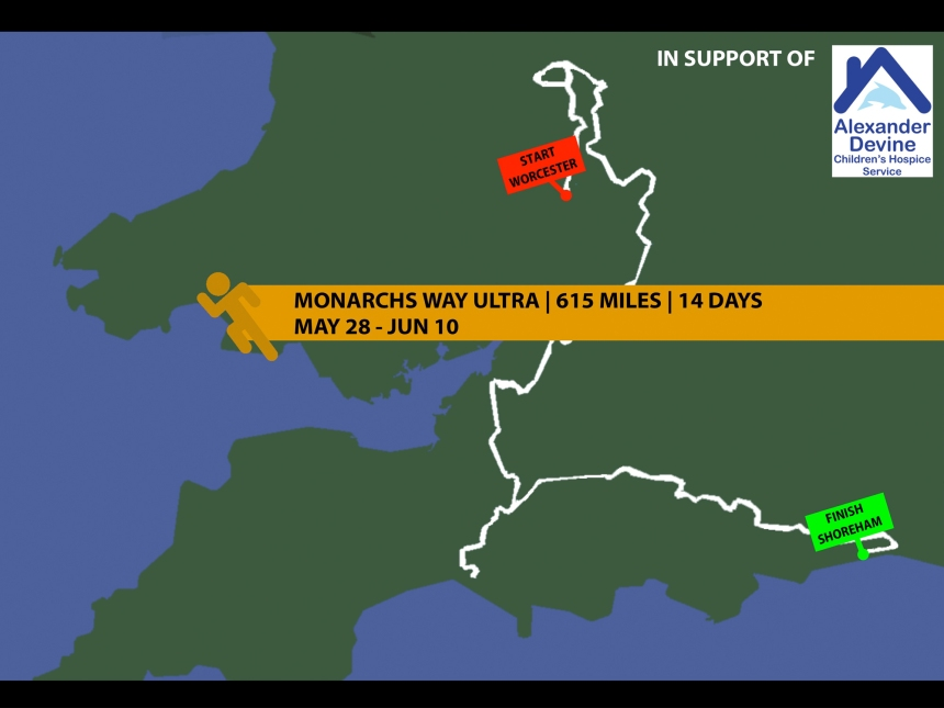 Monarchs Way Charity Run Map